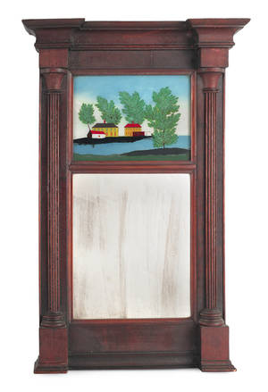 Federal mahogany mirror ca 1830