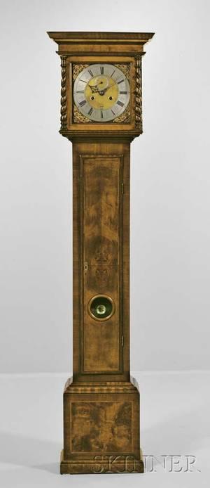 James Ayme Walnut Veneered Longcase Clock