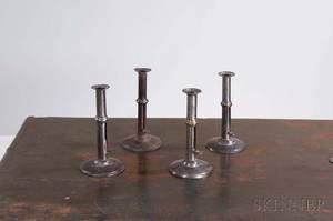Four Iron Wedding Band Hogscraper Candlesticks