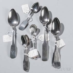 Thirteen New Jersey Coin Silver Spoons