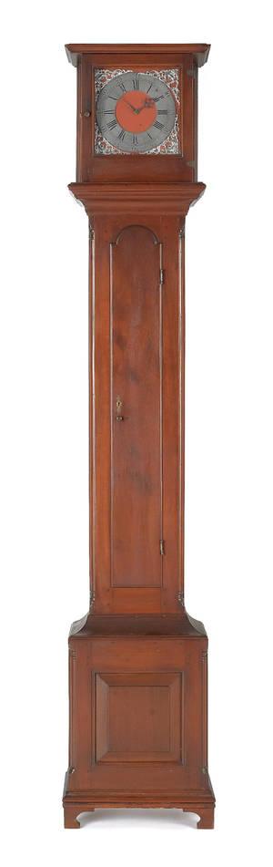 Lancaster Pennsylvania Queen Anne walnut tall case clock ca 1770
