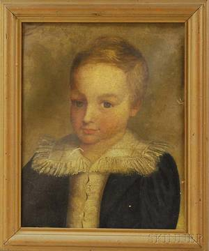Continental School 19th Century Portrait of a Young Boy