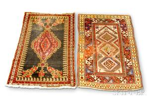 Malayer Rug and a Kazak Rug