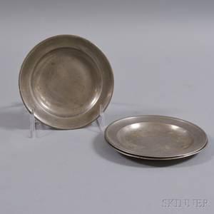 Three Small Pewter Plates