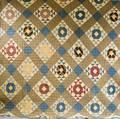 Appliqued Cotton Geometricpattern Quilt