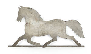Sheet iron horse weathervane 19th c