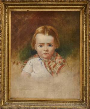 American School 19th Century Portrait of a Child