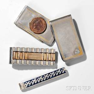 Little Jimmy Dickens Three Money Clips and a Tie Bar