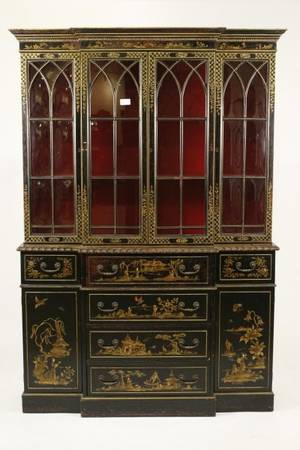 Regency Style Chinoiserie Decorated Secretary