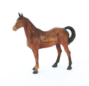 Cast iron horse doorstop inscribed  Gene Autrys Champion