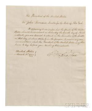 Washington George 17321799 Circular Letter Signed as President Philadelphia 1 March 1797
