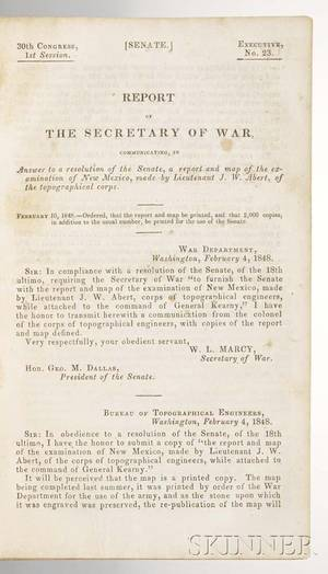 Abert James W fl circa 1850 Report of the Secretary of War Communicating a Report and Map of the Examination of New Mexico