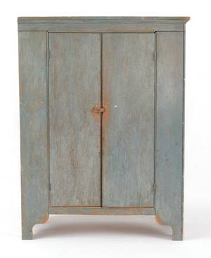 Painted pine cupboard 19th c