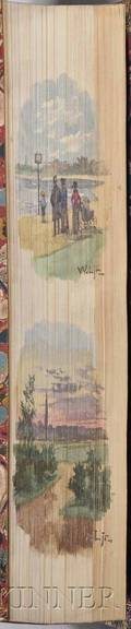 Foreedge Paintings Two Volumes