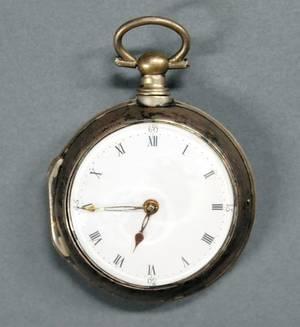 Rare silver keywind pocket watch late 18th c