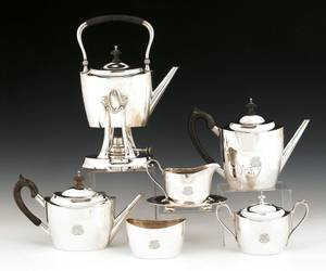 Tiffany  Co sterling silver seven piece tea and coffee service