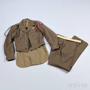 Eisenhower Jacket Trousers Shirt and Other Items Related to Corporal Robert Bossert 82nd Airborne Division