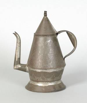 Pennsylvania tin coffee pot 19th c