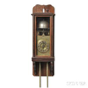 Miniature Japanese Lantern Clock and Wall Bracket