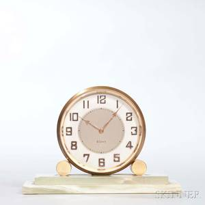 Art Deco Swiss Partners Desk Clock