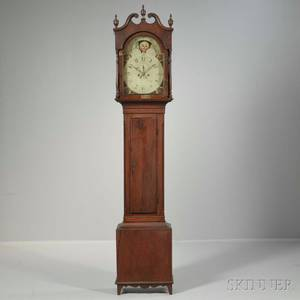 Lancaster County Walnut and Walnut Veneered Tall Clock