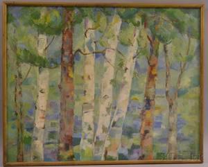 Mabel Colgate American 20th Century Birches