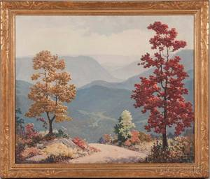 Ruthven Holmes Byrum American 18961958 Smoky Mountain Road