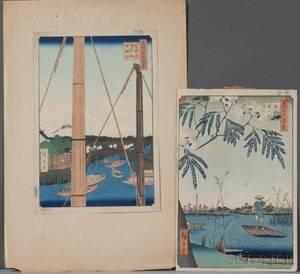 Utagawa Hiroshige 17971868 Two Woodblock Prints