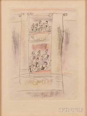 Jules Pascin French 18851930 Two Framed Prints Theater Box