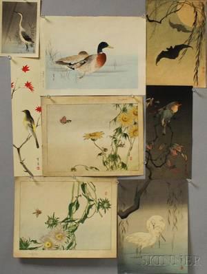 Eight Watanabe Seitei 18511918 Woodblock Prints