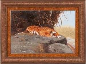 Ray Jacob American 20th Century Tiger at Rest
