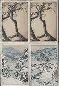 Toshi Yoshida 19111995 Four Woodblock Prints
