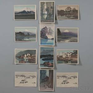 Hiroshi Yoshida 18761950 Twelve Woodblock Prints