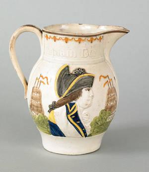 Prattware pitcher early 19th c