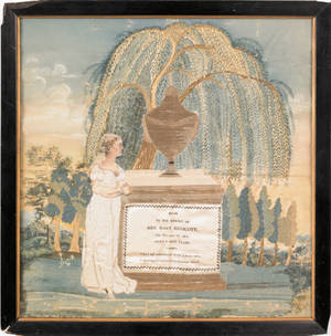 Massachusetts silk memorial for Mary Endicott