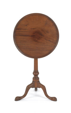 Philadelphia Queen Anne mahogany candlestand ca 1760