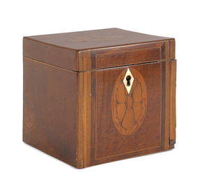 George III mahogany tea caddy ca 1800