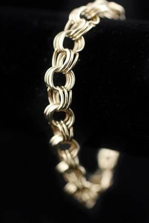 Classic 14k Yellow Gold Charm Bracelet