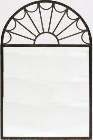 MIRROR W IRON FRAME