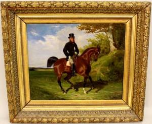 Paul Le More Equestrian Oil Painting