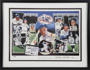 MICKEY MANTLE SIGNED LITHOGRAPH