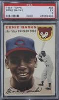 ERNIE BANKS 1954 TOPPS BASEBALL CARD GRADED PSA EX 5