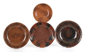 Four pieces of Pennsylvania redware 19th c