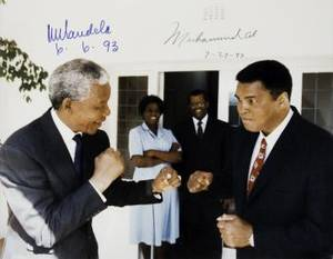 MUHAMMAD ALI AND NELSON MANDELA SIGNED PHOTOGRAPH