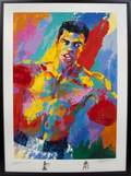 MUHAMMAD ALI AND LeROY NEIMAN SIGNED ARTISTS PROOF LITHOGRAPH WITH REMARQUES