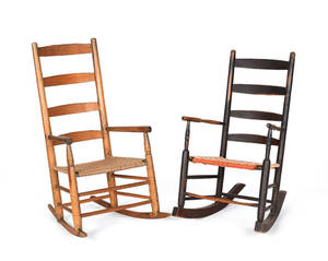 Two Shaker style rocking chairs