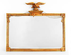 Federal style giltwood overmantle mirror