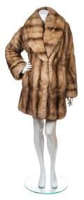 An Unlabeled Brown Fox Fur Coat
