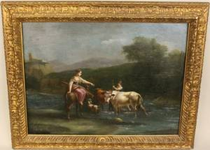 18th C French School Oil Painting