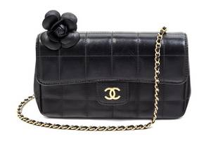 A Chanel Black Quilted Mini Flap Handbag